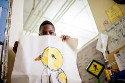 Using art as a form of non-verbal communication for children is a powerful tool in early learning environments. When a child is learning a new language, adapting to a new environment or has exceptionalities, supporting communication through art is a powerful tool. This photo expresses the power of art.
