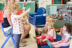 Encouraging children to lead their own learning creates a space for leadership, independence, compassion and self-confidence. Watching this toddler share a song with her educator and the other children was really amazing; she showed such confidence and joy throughout the entire experience.